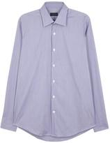 Pal Zileri Blue Cotton Blend Shirt