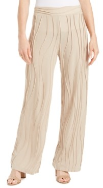 JM Collection Petite Wave-Knit Pull-On Pants, Created for Macy's