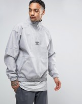 Adidas Originals Paris Pack 1/2 Zip Sweatshirt In Grey Bk0529