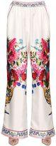 Dolce & Gabbana Bouquet Printed Silk Twill Pants