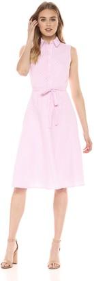 Donna Morgan Women's Cotton Midi Length Shirt Dress