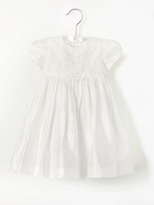 John Lewis & Partners Baby Silk Lace Bodice Dress, Cream