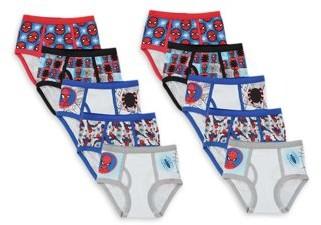 Spiderman Boys Underwear, 10 Pack Briefs Sizes 4 - 8