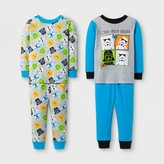 Star Wars Baby Boys' 4pc Pajama Set - Blue