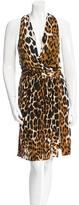 Robert Rodriguez Draped Leopard Print Dress