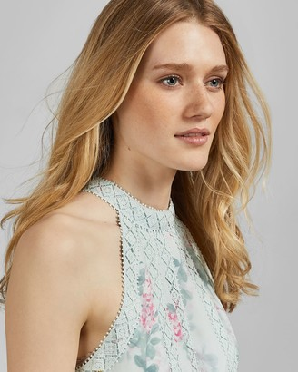 Ted Baker Sorbet Lace Insert Midi Dress