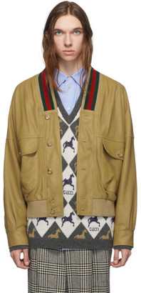 Gucci Tan Leather Jacket
