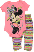 Disney Pink Minnie Mouse 'Smile Laugh' Bodysuit & Leggings