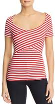 Three Dots Nantucket Stripe Crossover Top