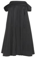 Edit Satin off-the-shoulder dress
