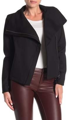 Blank NYC BLANKNYC Denim Shawl Collar Ponte Jacket