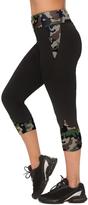 Black & Green Camouflage Capri Leggings - Plus Too