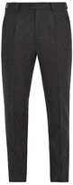 Brunello Cucinelli Leisure-fit flannel-wool trousers