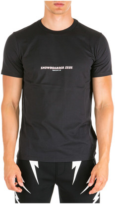 Neil Barrett Snowboarder Zeus T-shirt