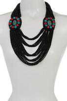 Natasha Accessories Multi-Strand Seed Bead Statement Necklace