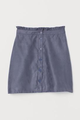 H&M Faux Suede Skirt - Blue