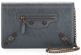 Balenciaga Giant Brass Wallet-on-Chain, Dark Gray