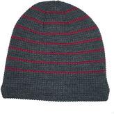 Jf J.Ferrar JF Sherpa-Lined Striped Beanie