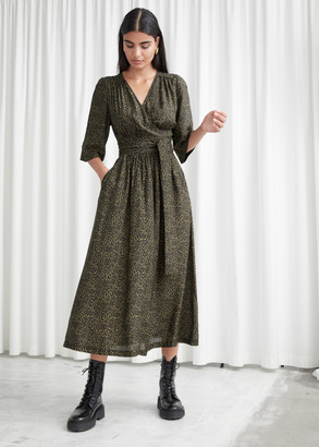 And other stories Relaxed Belted Midi Wrap Dress