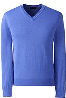Classic Men's Regular Performance V-neck Sweater-China Blue