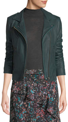IRO Han Leather Zip-Front Moto Jacket