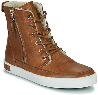 Blackstone CW96 women's Shoes (High-top Trainers) in Brown