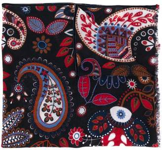 Altea textured paisley patterned scarf
