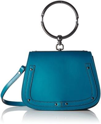 Chicca Borse Women's CBS178484-560 Shoulder Bag Blue Blue (blue blue)