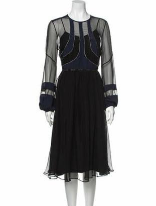 No. 21 X Kartell Silk Midi Length Dress Black