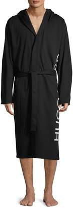 BOSS Hooded Cotton Robe
