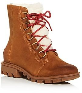 Sorel Women's Phoenix Shearling Waterproof Cold Weather Mid-Heel Boots- 100% Exclusive