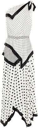 Altuzarra One-shoulder Polka-dot Silk-satin Maxi Dress