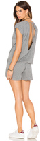 Bobi Supreme Jersey Short Sleeve Open Back Romper