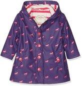 Hatley Girl's Button up Splash Jacket Raincoat,3 Years