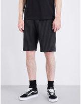 Davido X Orange Culture Striped Regular-fit Wool Shorts