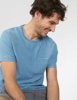 Fat Face Indigo Jacquard Stripe T-Shirt