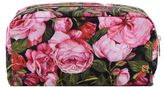 Dolce & Gabbana Floral Clutch From Pink Floral Clutch With Brand Logo Plaque At Front, Top Zip Closure And Internal Compartment.