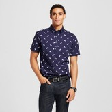 Merona Men's Short Sleeve Poplin Button Down Popover Shirt Navy