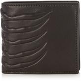 Alexander McQueen Ribcage-embossed bi-fold leather wallet