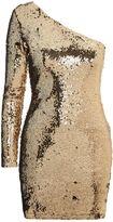 Topshop One Shoulder Sequin Mini Bodycon Dress