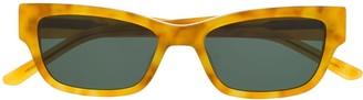 Han Kjobenhavn Root rectangular-frame sunglasses