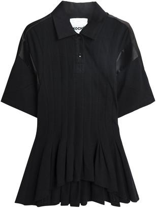 Koché Satin-trimmed Ruffled Cotton-pique Polo Shirt