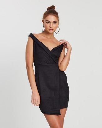 Missguided Scuba Bardot Mini Dress