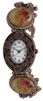 Pedre Women's 4971RX Antique Rose Copper-Tone Crystal Charm Watch