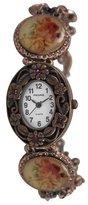 Pedre Women's 4971RX Antique Rose Copper-Tone Crystal Charm Watch