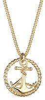 Goldhimmel Women's 925 Sterling Silver Xilion Cut Anchor Pendant Necklace Length of 45 cm