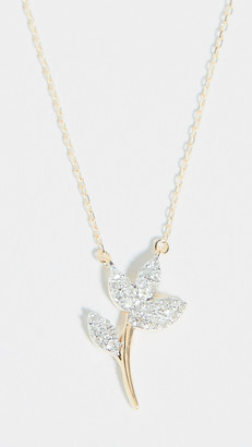Adina 14k Garden Pave Flower Necklace