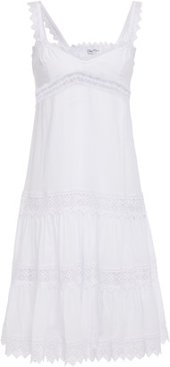 Charo Ruiz Ibiza Crocheted Lace-trimmed Cotton-blend Voile Dress