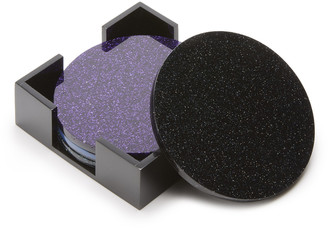 Edie Parker Set-of-Four Glittered Coasters