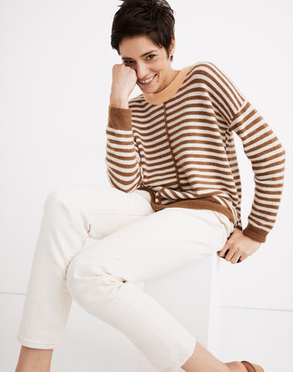 Madewell Stripe-Play Smithe Pullover Sweater in Coziest Yarn